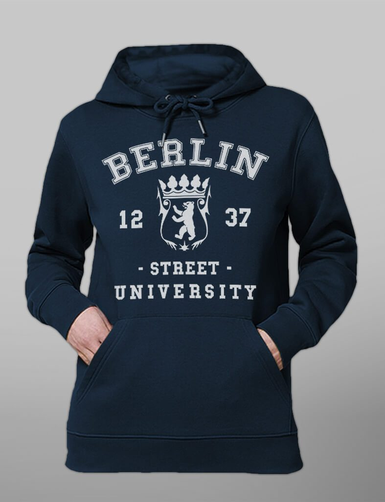 Unisex Organic Hoodie // Street University Berlin