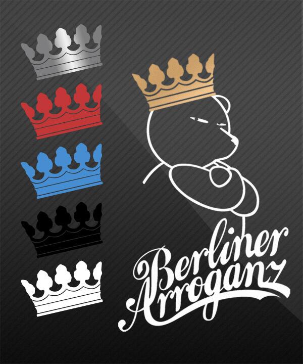 Berliner Bär mit Krone Auto Aufkleber