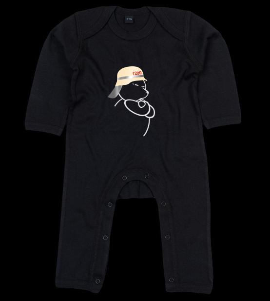Berliner Bär Feuerwehr Helm Baby Body