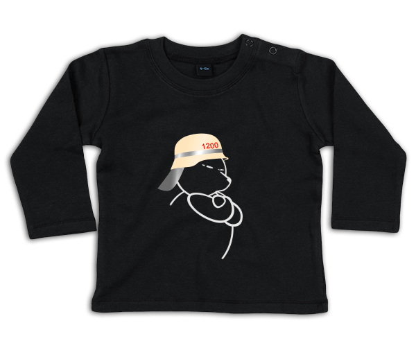 Berliner Bär Feuerwehr Helm Baby Shirt