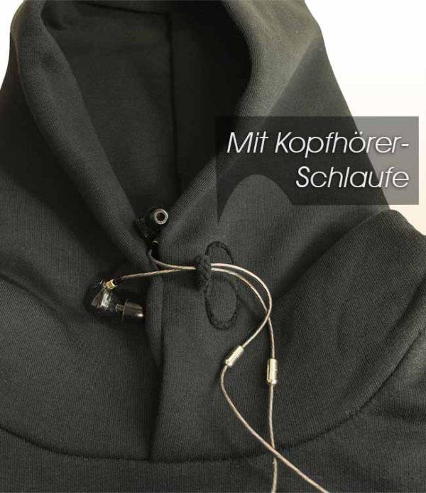 mit Kopfhörer-Schlaufe