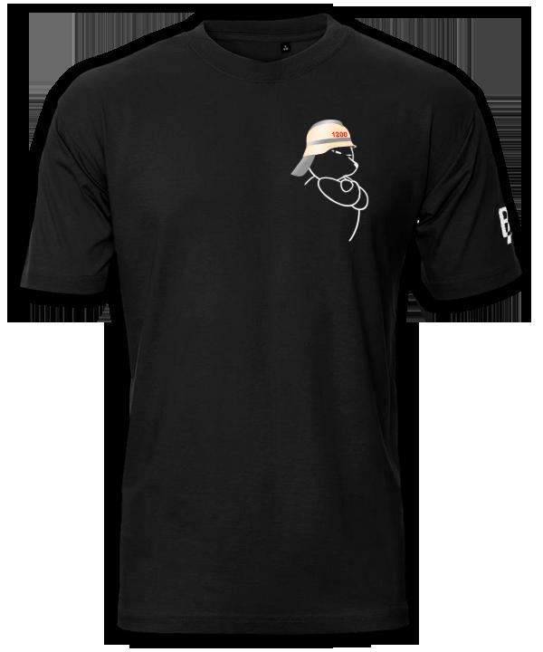 Berliner Bär Feuerwehr Helm Shirt mit Raupe