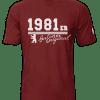 T-Shirt Geburtsjahr Berliner Original bordeaux