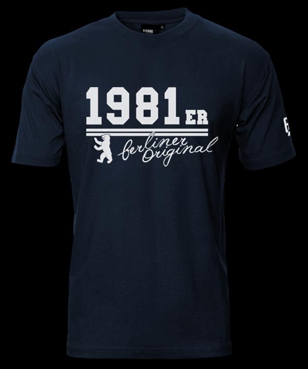 T-Shirt Geburtsjahr Berliner Original Marineblau